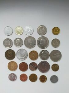WORLD COINS LOT OF 25 MODERN AND VINTAGE COINS FROM AROUND THE WORLD  1