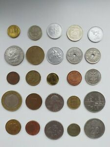 WORLD COINS LOT OF 25 MODERN AND VINTAGE COINS FROM AROUND THE WORLD  2