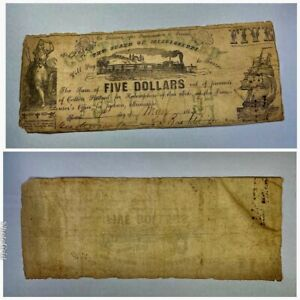 ITEM NUMBER 210317022   1862 FIVE DOLLAR BILL ISSUED MAY 1 1862   MISSISSIPPI