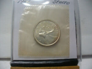 Click now to see the BUY IT NOW Price! 1961  CANADA SILVER QUARTER  DOLLAR TOP GRADE    61  PROOF LIKE  SEALED