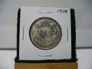 Click now to see the BUY IT NOW Price! 1938  CANADA  SILVER  HALF  DOLLAR  50 CENT PIECE   38    SEMI  KEY DATE