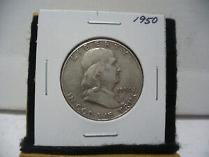 Click now to see the BUY IT NOW Price! 1950   BEN FRANKLIN   HALF  DOLLAR      50 CENT PIECE   COIN   50  GOOD GRADE