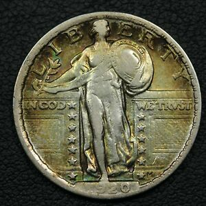 1920 STANDING LIBERTY SILVER QUARTER   CLEANED