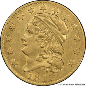1813 CAPPED LIBERTY HEAD $5 GOLD HALF EAGLE PCGS XF45 EARLY US GOLD