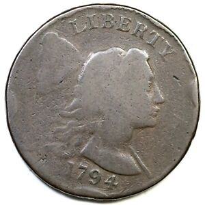 1794 S 20B R 4 HEAD OF 93 LIBERTY CAP LARGE CENT COIN 1C