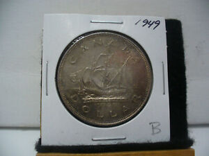 Click now to see the BUY IT NOW Price! 1949  CANADA  SILVER DOLLAR  COIN   NICE GRADE  SEE PHOTOS  49B  NICE GRADE
