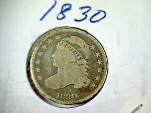 1830 CAPPED BUST SILVER DIME