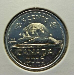 CANADA MINT  2016  5 CENTS