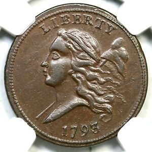Click now to see the BUY IT NOW Price! 1793 C 2 R 3 NGC MS 61 BN LIBERTY CAP HALF CENT COIN 1/2C