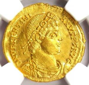 Click now to see the BUY IT NOW Price! AD 364   375 WESTERN ROMAN EMPIRE VALENTINIAN I AV SOLIDUS GOLD COIN NGC MS