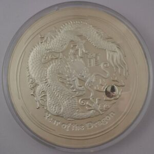 Click now to see the BUY IT NOW Price! 2012 AUSTRALIA $300   YEAR OF THE DRAGON 10 KILO SILVER   NGC MS69