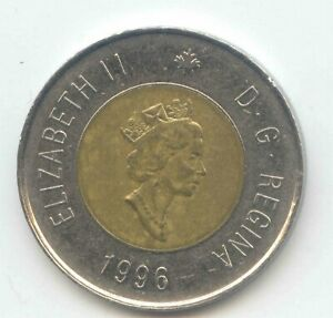 CANADA 1996 TOONIE CANADIAN $2 DOLLARS TWONEY TOONY TWO DOLLAR EXACT COIN SHOWN