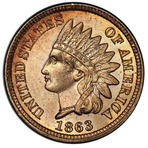 Click now to see the BUY IT NOW Price! 1863 1C INDIAN CENT   TYPE 2 COPPER NICKEL PCGS MS67 3294 2