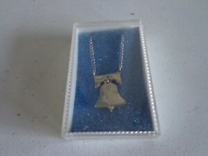 REAL HALF DOLLAR LIBERTY BELL CUT OUT NECKLACE