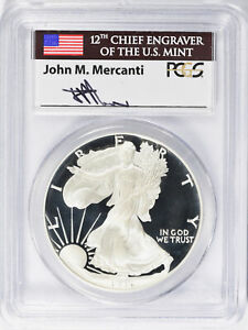 Click now to see the BUY IT NOW Price! 1995 W $1 PROOF SILVER EAGLE PCGS PR70DCAM JOHN MERCANTI SIGNED