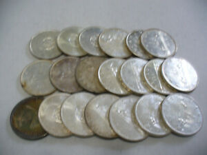 Click now to see the BUY IT NOW Price! LOT OF  20 PRE 1968  CANADA  SILVER  1$  ONE DOLLAR  COINS  SILVER  LOT B  JUNK
