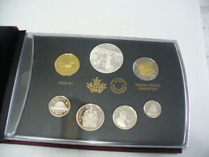 Click now to see the BUY IT NOW Price! 2014  1$  CANADA PROOF SET   TOONIE  LOONIE FIFTY CENT QUARTER NICKEL DIME