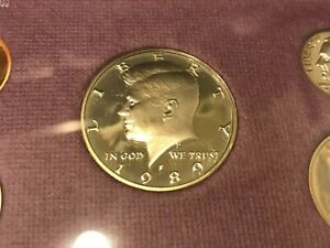 1989 S PROOF KENNEDY HALF DOLLAR   DIRECTLY FROM PROOF SETS   FAST