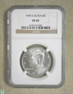 1998 S KENNEDY HALF DOLLAR   SILVER   NGC CERTIFIED   SP 69