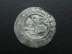 1/2 GROSH 1513 SILVER COIN OF MEDIEVAL LITHUANIA 1842