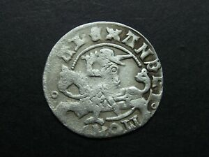 1/2 GROSH WITHOUT DATE SILVER COIN OF MEDIEVAL LITHUANIA 1838