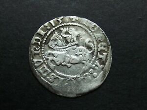 1/2 GROSH 1513 SILVER COIN OF MEDIEVAL LITHUANIA 1843