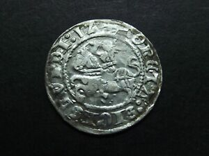 1/2 GROSH 1512 SILVER COIN OF MEDIEVAL LITHUANIA 1840