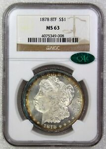 Click now to see the BUY IT NOW Price! 1878 8 TF MORGAN DOLLAR   VAM 14  NGC MS 63 CAC WITH PURPLE RIM TONE