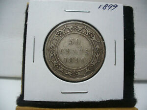 Click now to see the BUY IT NOW Price! 1899  CANADA  SILVER  HALF  DOLLAR  50 CENT PIECE  99  NEWFOUNDLAND  STERLING