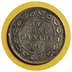 1917 CANADA CANADIAN LARGE COPPER 1 CENT COINS 239