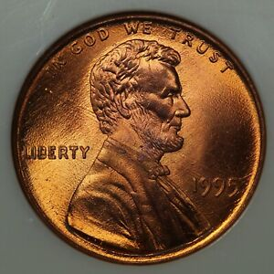 1995 DDO DOUBLED DIE OBVERSE LINCOLN MEMORIAL COPPER CENT NGC MS 68 RD