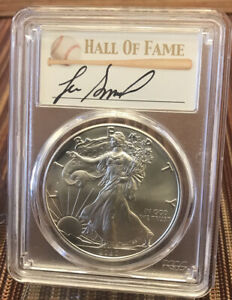 2020 P $1 PCGS MS70 SILVER EAGLE EMERGENCY ISSUE   HOF LEE SMITH 1/50 OFFERS