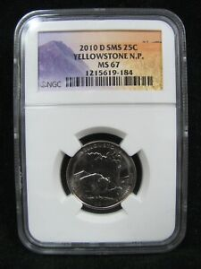 2010 D SMS YELLOWSTONE NATIONAL PARK QUARTER NGC MS 67