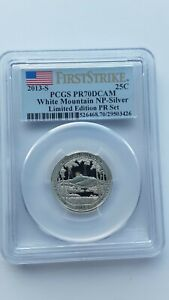2013 S 25C SILVER WHITE MOUNTAIN NP PCGS PR70DCAM LIMITED EDITION PROOF SET