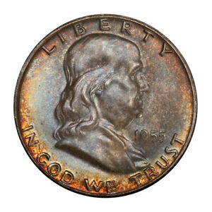Click now to see the BUY IT NOW Price! 1955 50C FRANKLIN HALF DOLLAR PCGS MS67FBL  CAC  3151 22 TOP POP NONE FINER