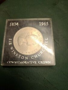 1965 SIR WINSTON CHURCHILL CROWN COIN HOUSED IN A CASE