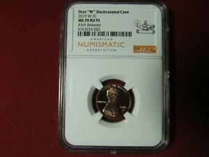 Click now to see the BUY IT NOW Price! 2019 W LINCOLN CENT  FROM UNC MINT SET  ANA LABEL ANA RELEASE NGC MS 70 RD PL