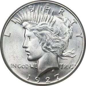 Click now to see the BUY IT NOW Price! 1927 $1 PEACE DOLLAR PCGS MS66 3262