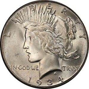 Click now to see the BUY IT NOW Price! 1934 S $1 PEACE DOLLAR PCGS MS66 3285 1
