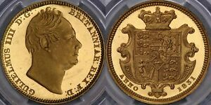 Click now to see the BUY IT NOW Price! 1831 PROOF HALF SOVEREIGN   PCGS PR64 DCAM