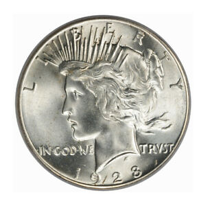 Click now to see the BUY IT NOW Price! 1928 $1 PEACE DOLLAR PCGS MS65   CAC  3203 2