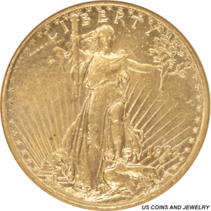 1922 S SAINT ST. GAUDENS $20 GOLD DOUBLE EAGLE SMALL WHITE HOLDER ANACS MS 61