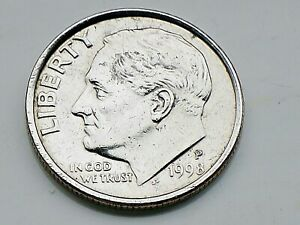 1998 P ONE DIME  COIN UNITED STATES ROOSEVELT SHINY GOOD GRADE