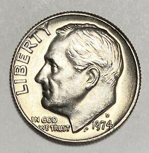 1974 D ROOSEVELT DIME 10 CENTS UNCIRCULATED COIN   3229