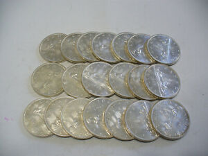 Click now to see the BUY IT NOW Price! LOT OF  20 1963  CANADA  SILVER  1$  ONE DOLLAR  COINS  SILVER  SEE PHOTOS