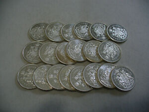 Click now to see the BUY IT NOW Price! LOT OF 20 1963  CANADA  HALF  DOLLAR  SILVER  COINS  63  LOT A  50 CENT  PIECE