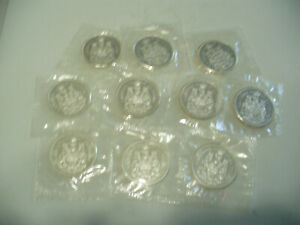 Click now to see the BUY IT NOW Price! LOT OF  10 1963  CANADA  SILVER 1/2 $  FIFTY  50 CENT PIECE   COINS  LOT A