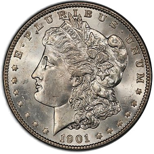 Click now to see the BUY IT NOW Price! 1901 $1 MORGAN DOLLAR PCGS MS64  CAC  3327 7