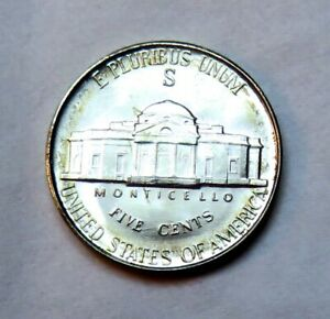 1942 S SILVER JEFFERSON NICKEL__BU / MS__PART OF WHOLE SET LISTED