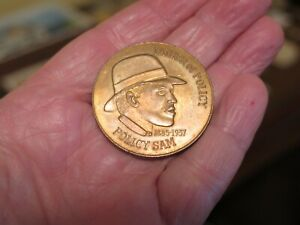 PETERS HABIT 1885   1937 FATHER OF POLICY 1 DOLLAR COIN OR TOKEN